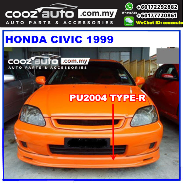 Honda Civic 1999 Front Skirt (Type-R) PU2004