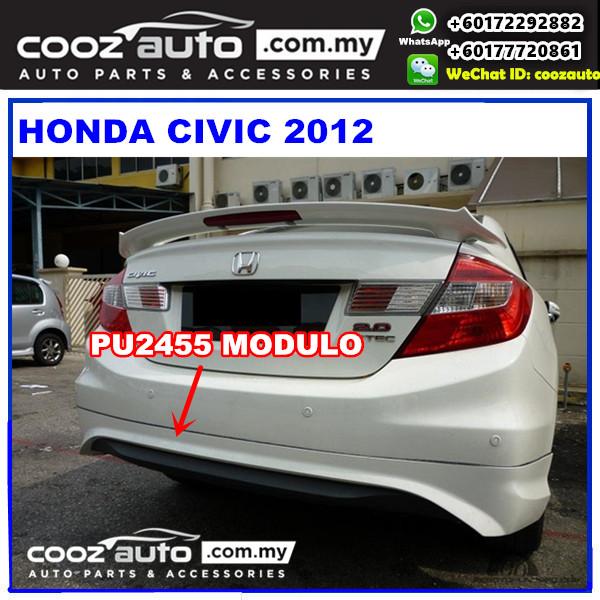 Honda Civic 2012 Rear Skirt (Modulo) PU2455