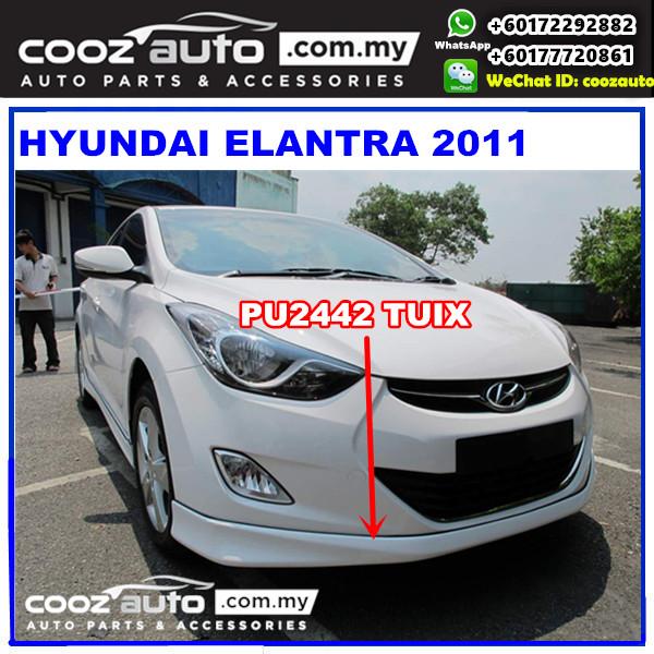 Hyundai Elantra 2011 Front Skirt (Tuix) PU2442