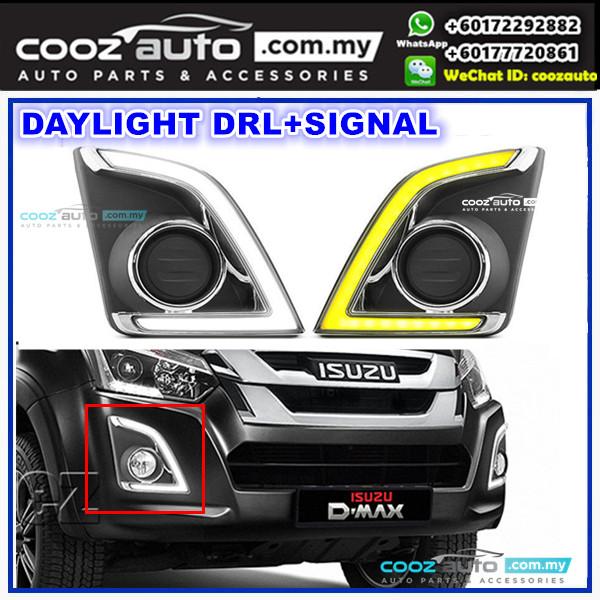 ISUZU D-MAX Dmax 2017 2018 Daylight Daytime DRL + Signal + Fog Lamp Cover
