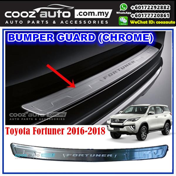 Toyota Fortuner 2016 - 2018 Alloy Rear Bumper Guards Trunk Lid Trim (Chrome)