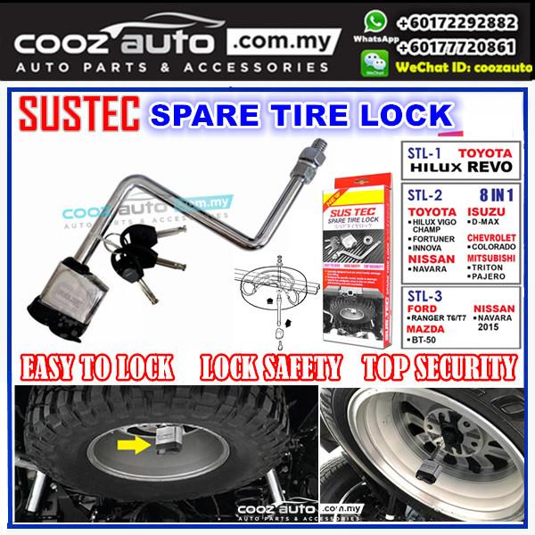 Mazda BT50 2013 - 2018 SUSTEC Spare Tyre Tire Wheel Lock Anti-Theft Devices