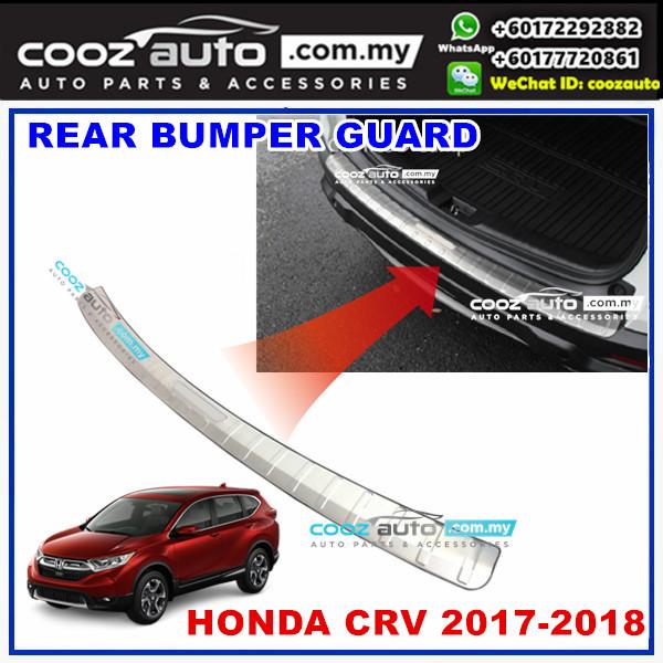 Honda CRV 2017 2018 2pcs Alloy Rear Bumper Inner Guards Trunk Protector (Chrome)