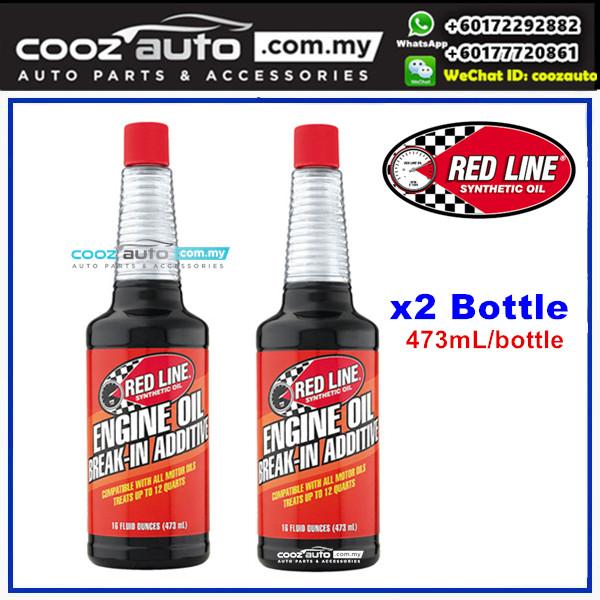 RED LINE ENGINE OIL BREAK IN ADDITIVE 473ml (2 Bottles)