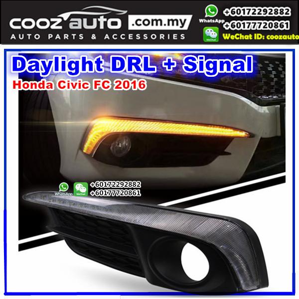 Honda Civic 2016 Daylight Daytime DRL + Signal + Fog Lamp Cover