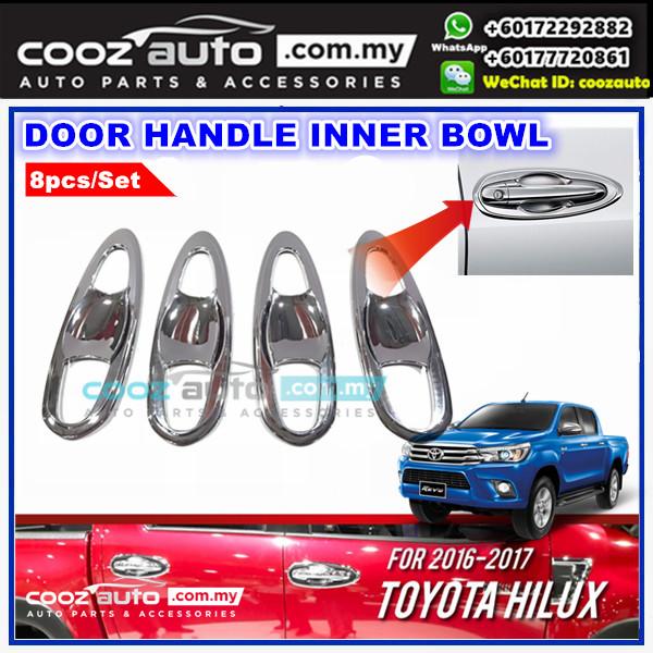 Toyota Hilux Revo 2016-2018 Chrome Door Handle Inner Bowl Inserts Cover