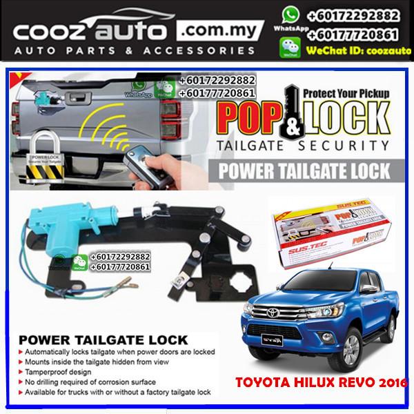 Toyota Hilux Revo Sustec Pod & Lock Power Tailgate Security Lock