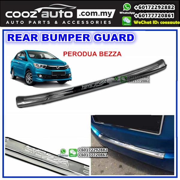 Perodua Bezza Alloy Rear Bumper Guards Trunk Protector