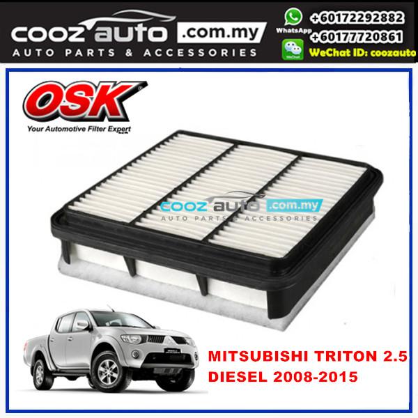 Mitsubishi Triton 2.5 Diesel 2008 - 2015 OSK Replacement Air Filter