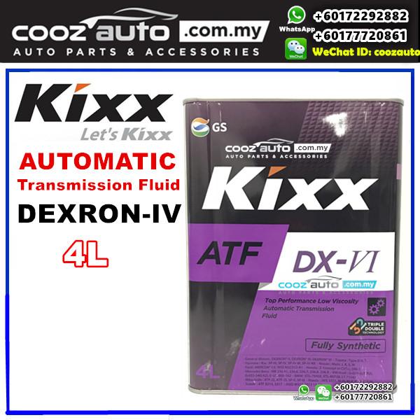 Kixx ATF DX-VI DEXRON-VI Fully Synthetic Automatic Transmission Fluid (4 liter)