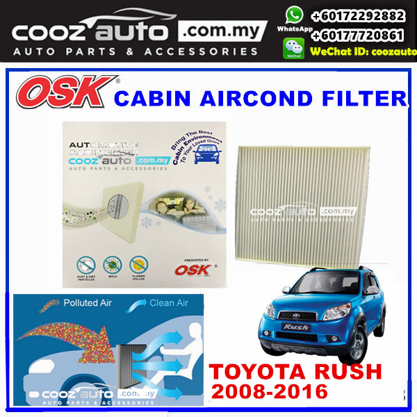 Toyota Rush 2008 - 2016 OSK Cabin Aircond Replacement Filter