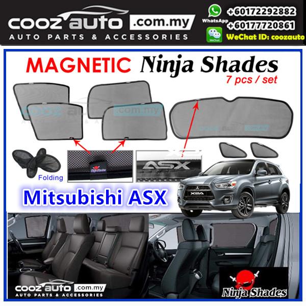 Mitsubishi ASX 2012-2018 Magnetic Ninja Sun Shade Sunshade (7pcs)