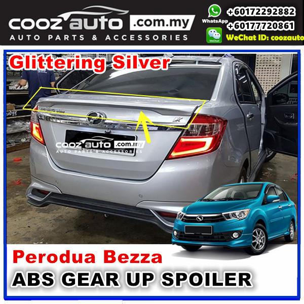 Perodua Bezza Gear Up Rear Spoiler (GLITTERING SILVER)