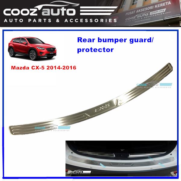 Mazda CX5 CX-5 2014 - 2016 Chrome ABS Rear Bumper Guards Protector