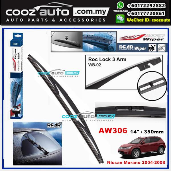 "Nissan Murano 2004 - 2008 AERO Rear Windscreen Wiper Blade 14"" (350mm)"