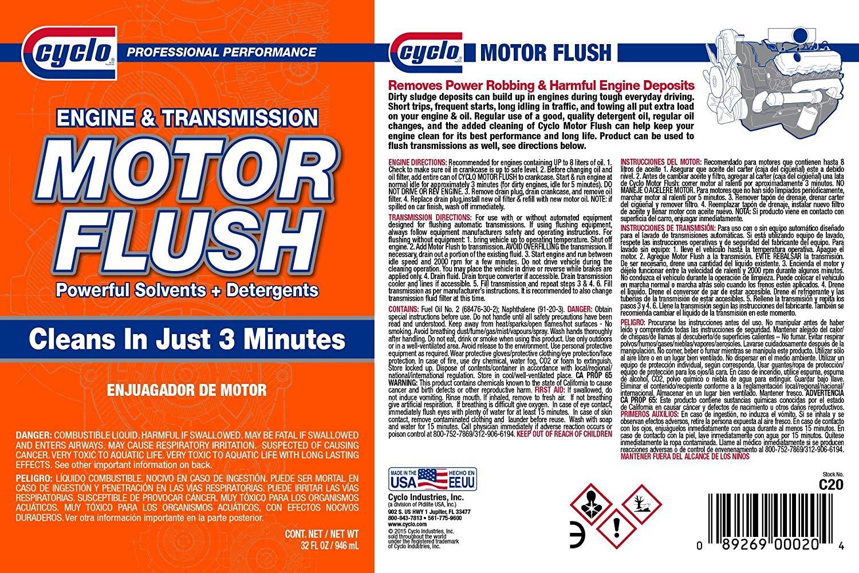 Cyclo Motor Flush Engine & Transmission Cleaner (1 Bottle)