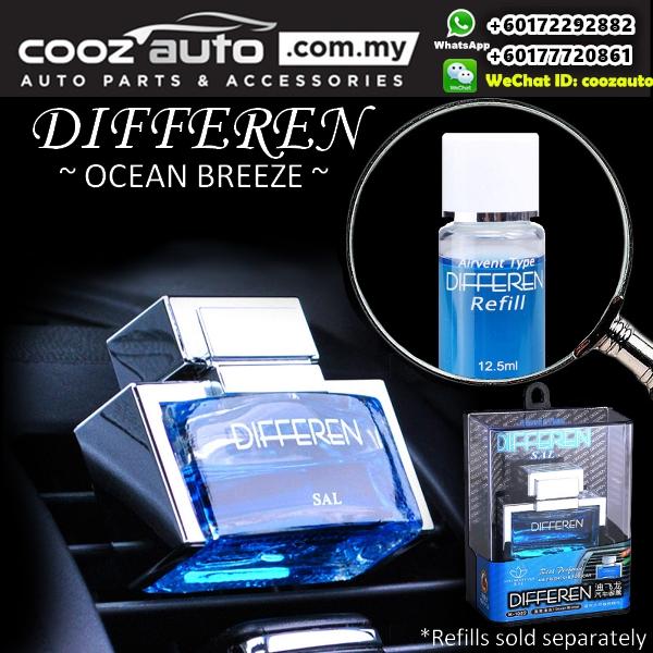 DIFFEREN Ocean Breeze Scent Luxury Air Vent Type Car Air Freshener Car Perfume Odor Eliminator Dispenser