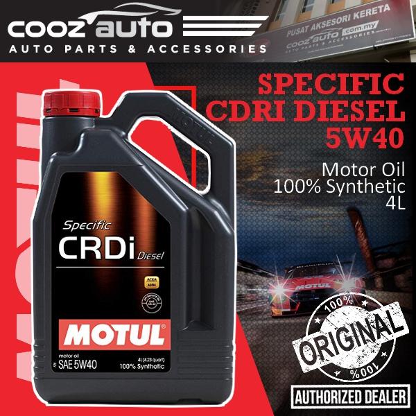 Motul Specific CRDi Diesel 5W40 4L SPECIFIC CRDI Engine Lubricants - 100%  Synthetic