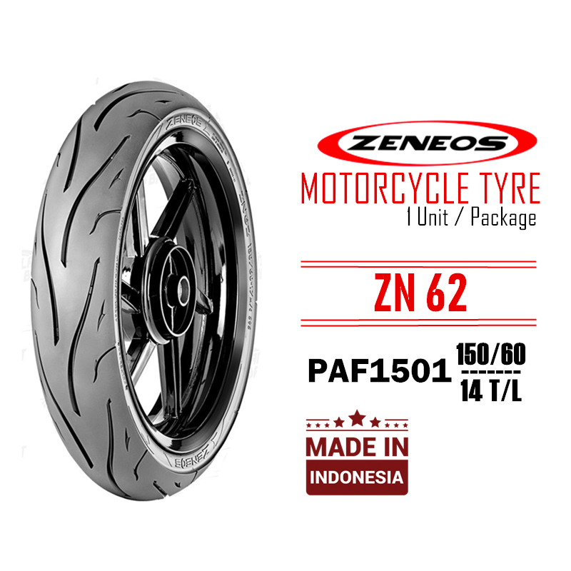 ZENEOS ZN62 PAF1501 150/60 14 Inch TL Motorcycle Tubeless Tyre Tire