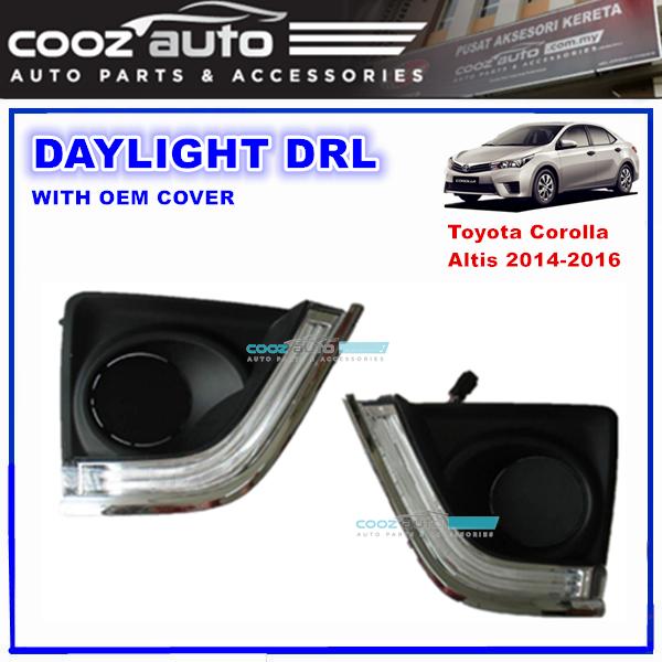Toyota Corolla Altis 2014 2016 Daylight Daytime Drl