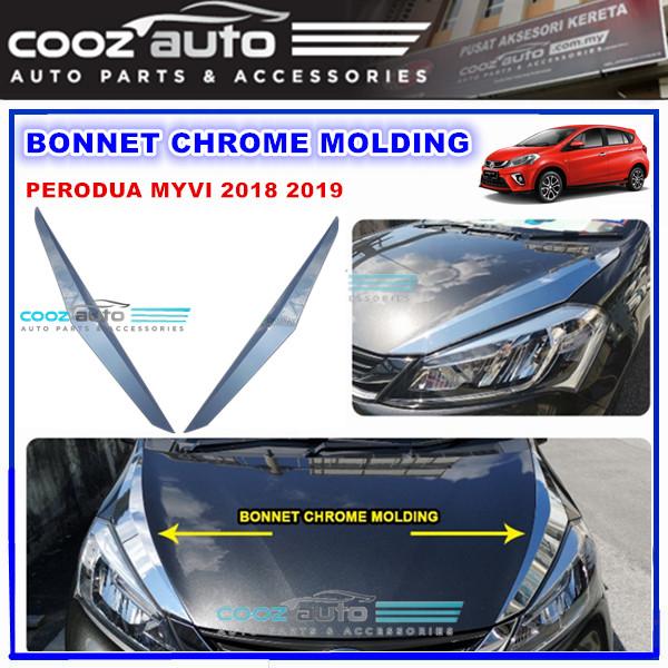 Perodua Myvi 2018 Bonnet Chrome Lining Belt Moulding Protector Guard