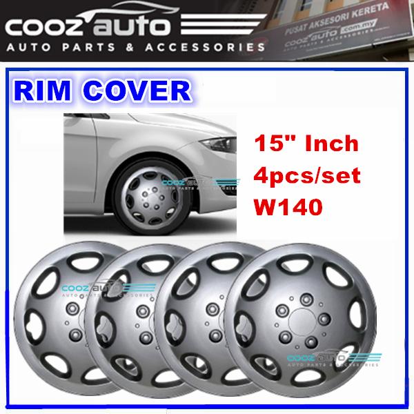 15\'\' Inch Wheel Rim Cover Cap W140 Universal - 4pcs/set