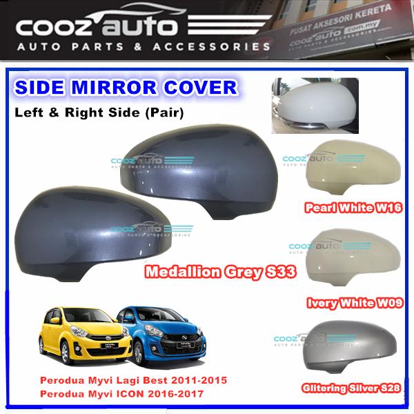 Perodua Myvi Lagi Best ICON 2011 - 2016 Side Mirror Cover OEM Painted