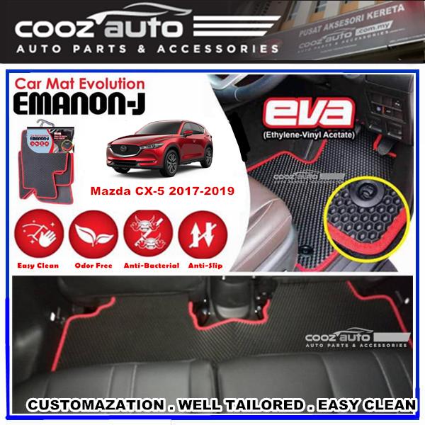 Mazda CX-5 CX5 2017 2018 2019 EMANON-J EVA Car Floor Mats Waterproof Carpet