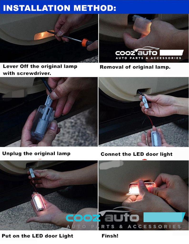 Toyota Lexus LED Door Courtesy Side Lamp Welcome Light