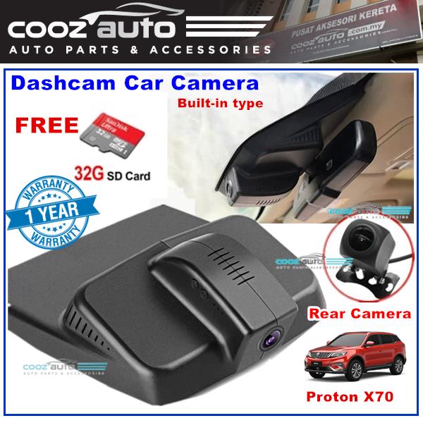 Proton X70 Dashcam Carcam Dash Car Cam Camera Rain sensor integrated built in rear view mirror rear back camera