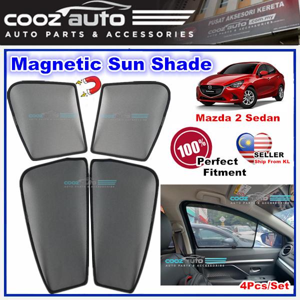 Mazda 2 Sedan Magnetic Sun Shade Magnet Sunshade