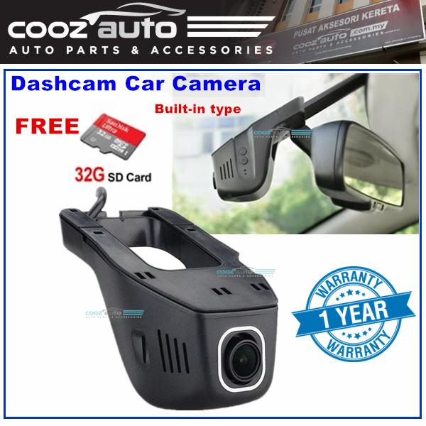 Universal Dashcam Carcam Dash Car Cam Camera integrated built in rear view mirror