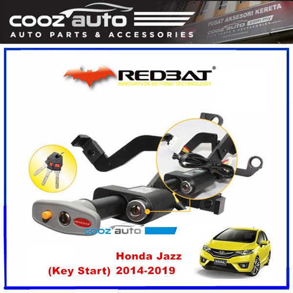 Honda Jazz 2014-2017 (Key Start) Redbat High Security Anti Theft Double Brake Pedal Lock with Socket Immobilizer