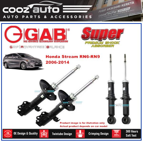Honda Stream RN6-RN9 2006 - 2014 GAB Super Premium Shock Absorber Suspension