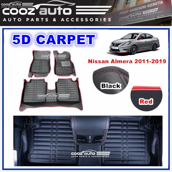NISSAN ALMERA 2011-2019 5D FLOOR MAT CARPET CAR FLOOR MAT