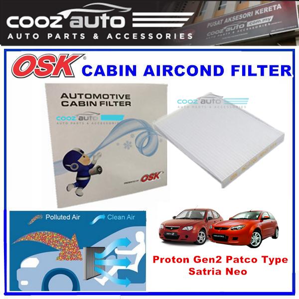 Proton Gen2 Patco Tyre / Satria Neo OSK Cabin Aircond Filter