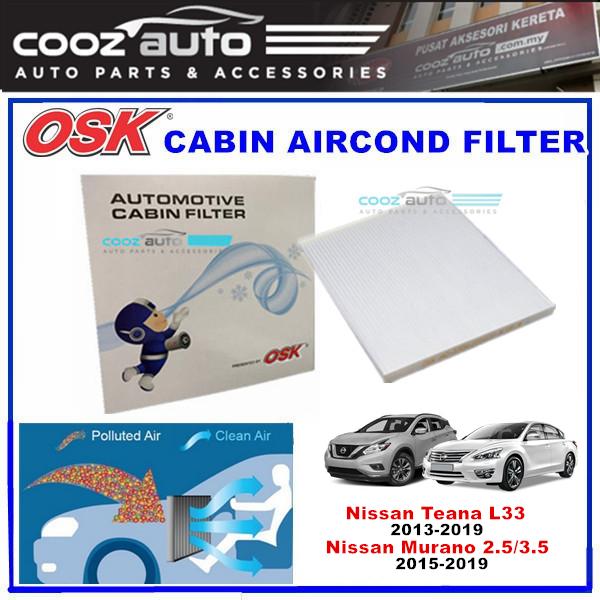 Nissan Teana L33 2013-2019 / Nissan Murano 2.5-3.5 2015-2019 OSK Cabin Aircond Filter