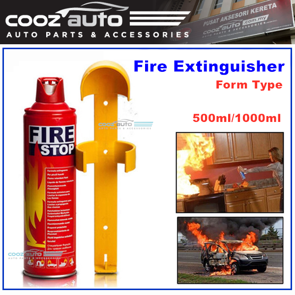 Mini Portable Fire Extinguisher Car And Home Use Form Type 500ml / 1000ml