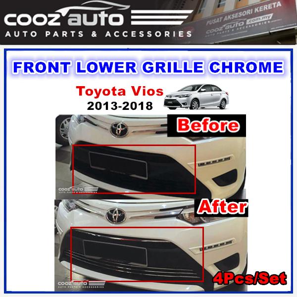 Toyota Vios 2013 - 2018 Front Lower Grille Chrome (4Pcs/Set)
