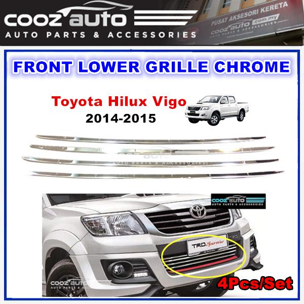 Toyota Hilux Vigo 2014 - 2015 Front Lower Grille Chrome (4Pcs/Set)