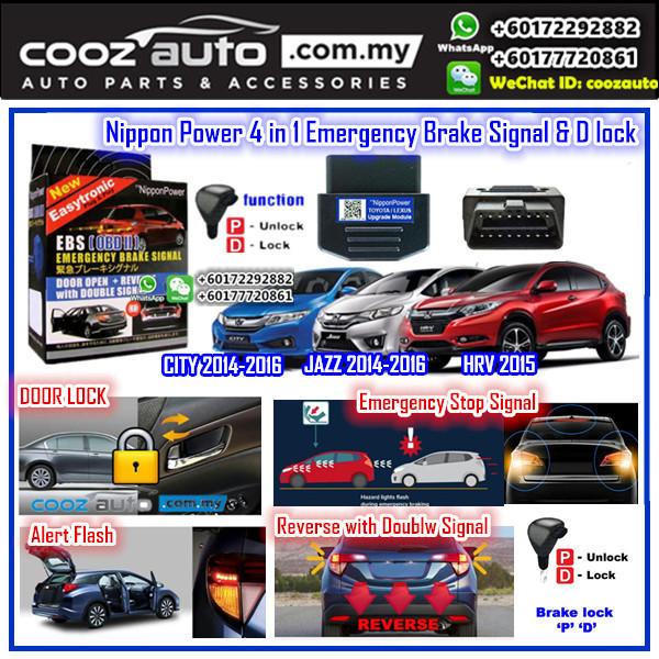 Honda Jazz 2014-2016 Nippon Power 4 IN 1 OBD EBS D Lock Emergency Brake Signal