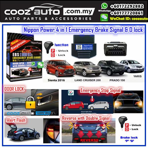 Toyota Sienta Nippon Power 4 IN 1 OBD EBS D Lock Emergency Brake Signal