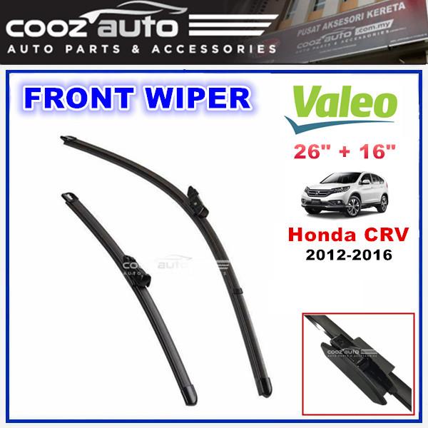 "Honda CRV 2012 - 2016 Valeo Silencio X.TRM Windscreen Flat Wiper Blade (26""/16"")"
