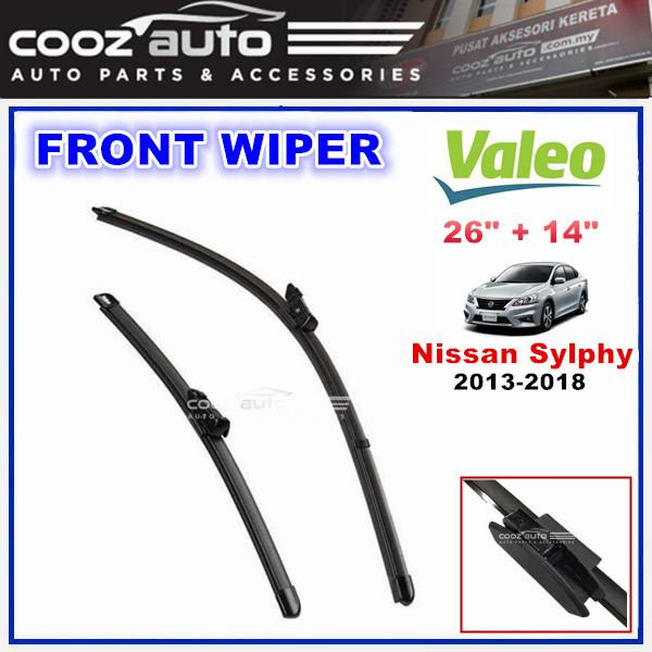 "Nissan Sylphy 2013 - 2018 Valeo Silencio X.TRM Windscreen Flat Wiper Blade (26""/14"")"