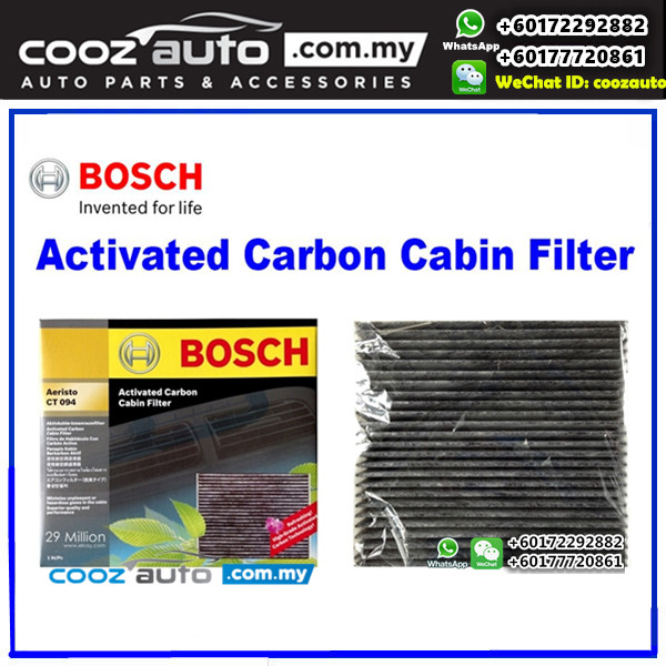 Toyota Innova 2005-2015 Bosch Activated Carbon Cabin Air Cond Aircon Replacement Filter