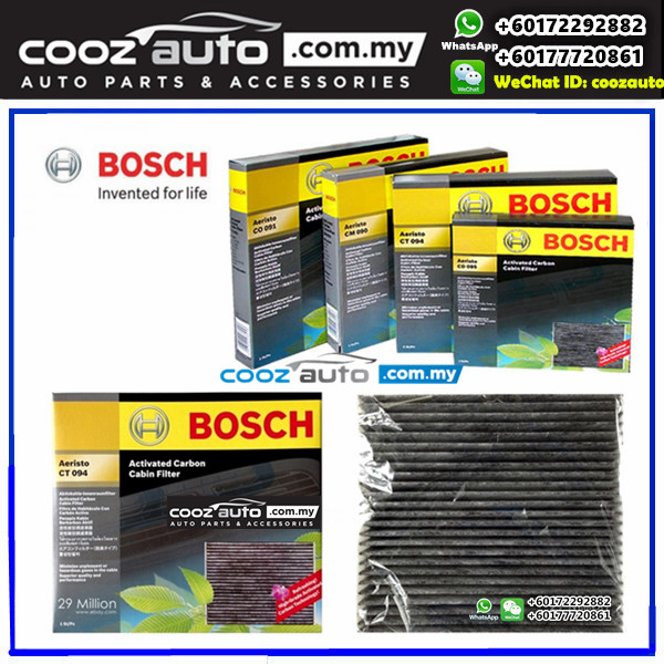 Toyota Prius 2009-2014 Bosch Activated Carbon Cabin Air Cond Aircon Replacement Filter
