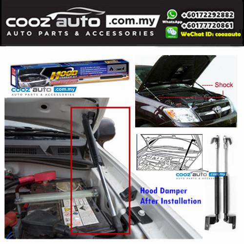 Chevrolet Colorado 2014-2017 Hood Carrier Kit Front Hood Damper Bonnet Gas Lifter TWIN STRUT