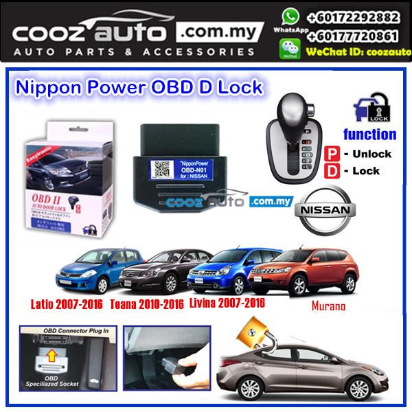 Nissan Livina 2007-2016  Nippon Power OBD D Lock Auto Door Lock