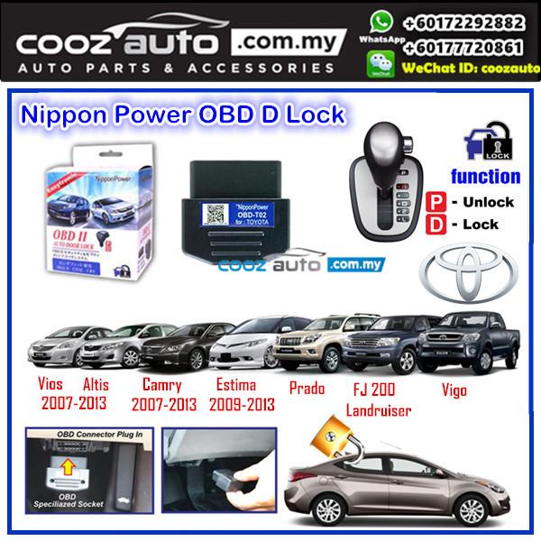 Toyota Estima 2009-2013 Nippon Power OBD D Lock Auto Door Lock