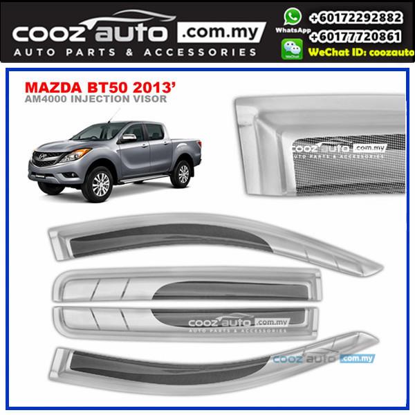 Mazda BT50 2013-2016 Anti UV Acrylic Injection Door Visor (SIlver)